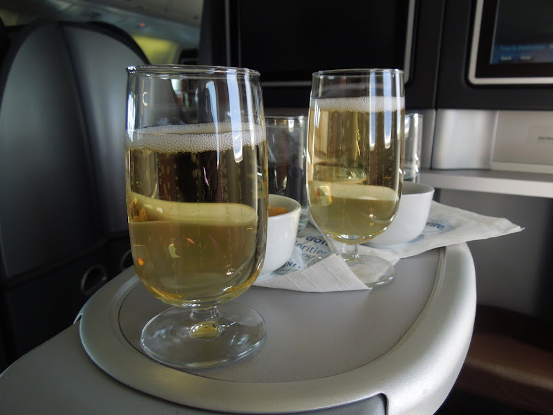 Inflight champagne