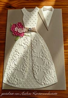 Creative wedding day bride and groom dress up greeting cards wedding day wishes cards m4hsunfo Choice Image
