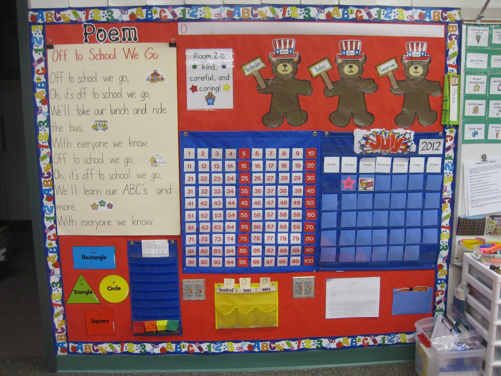 Kindergarten Calendar Wall : Mrs bell s kindergarten class july