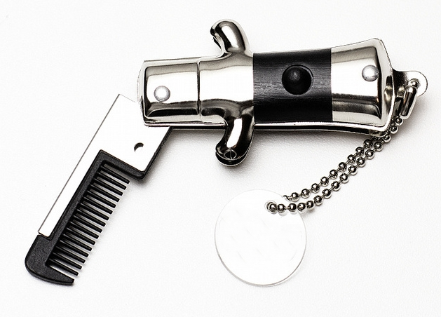 New Retro Vintage Mini SWITCHBLADE MUSTACHE COMB, Moustache Switch Blade, Pocke