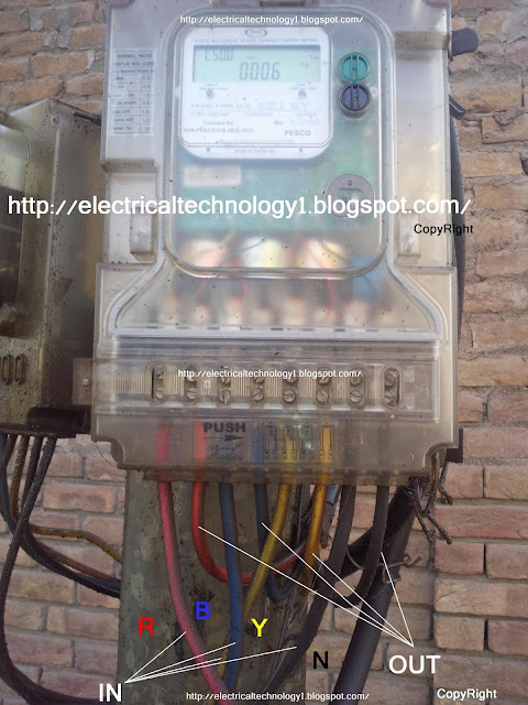 how to wire 3 phase kwh meter  electrical technology service panel wiring diagram