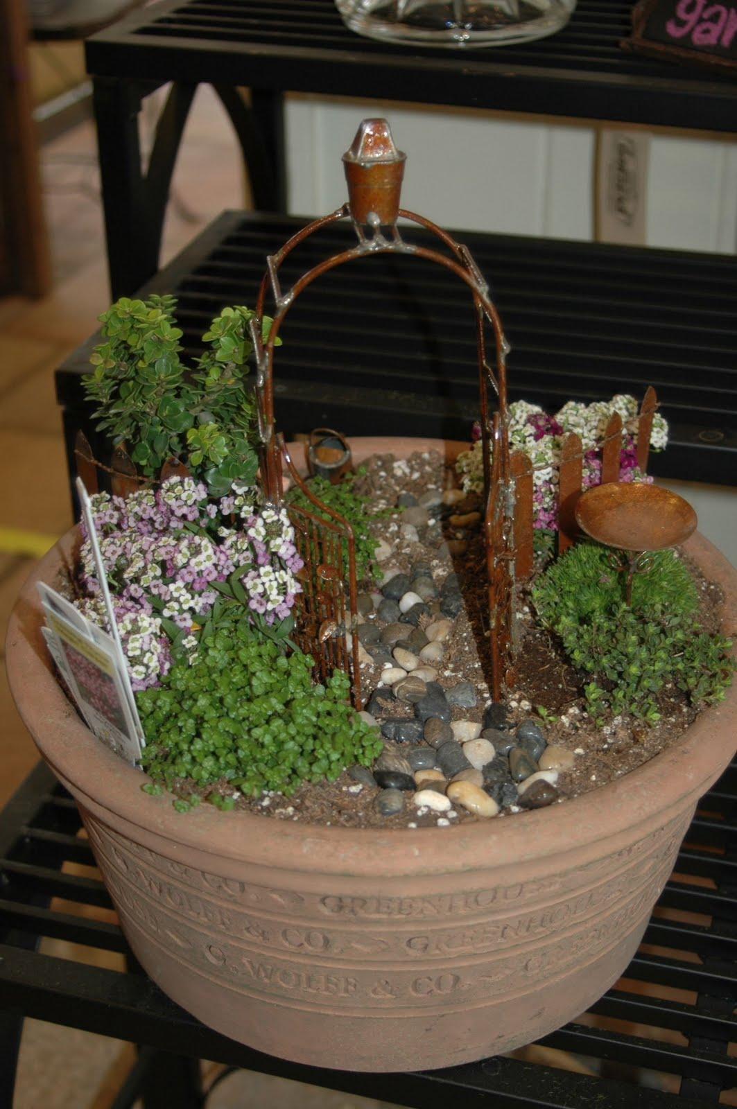 Pamela smerker designs creek side gardens photo shoot - Fairy garden containers ...