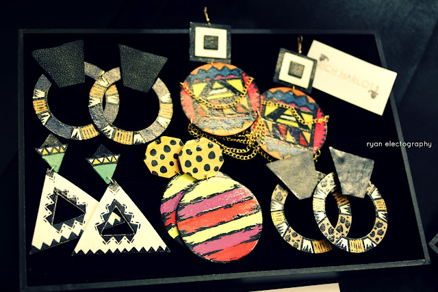 hand painted jewelry, earrings, tribal designs, curls gone wild