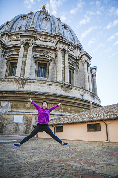 Star jump on Basilica