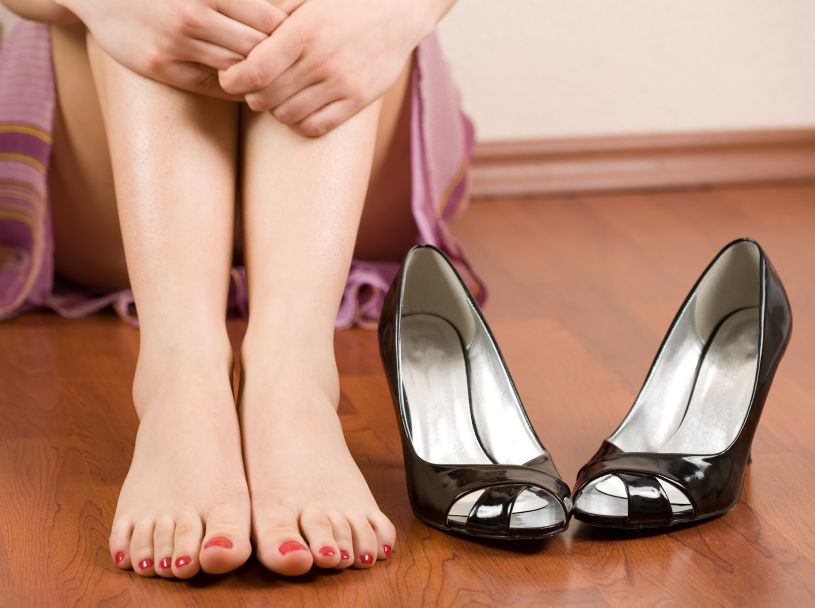 Women said that they suffered foot problems after wearing uncomfortable shoes.