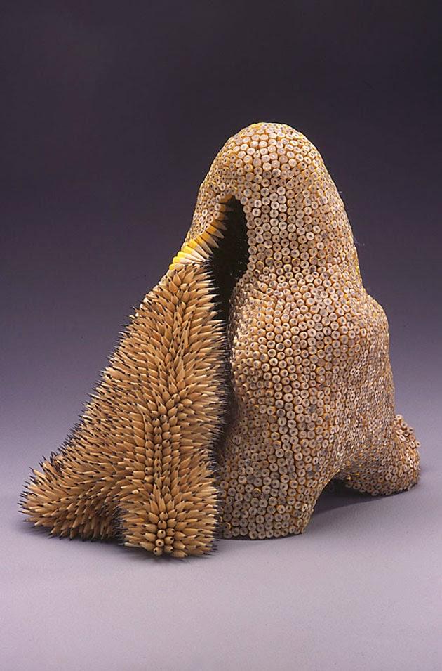 Jennifer Maestre: esculturas con lápices