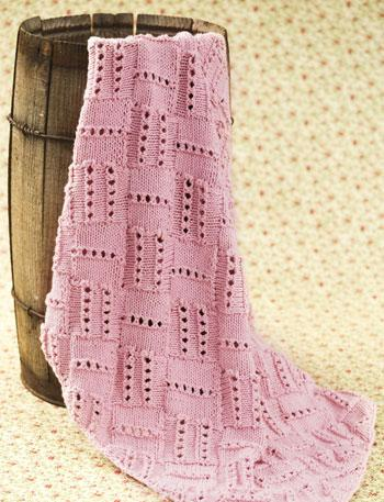 Knit Entrelac Blanket For Your Baby