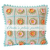 Flowery Crochet Cushion Pattern