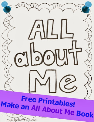Worksheets Free Printable All About Me Worksheet rockabye butterfly all about me free printable book book