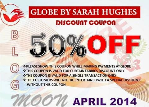 Sarah Hughes GLOBE 50% Coupon