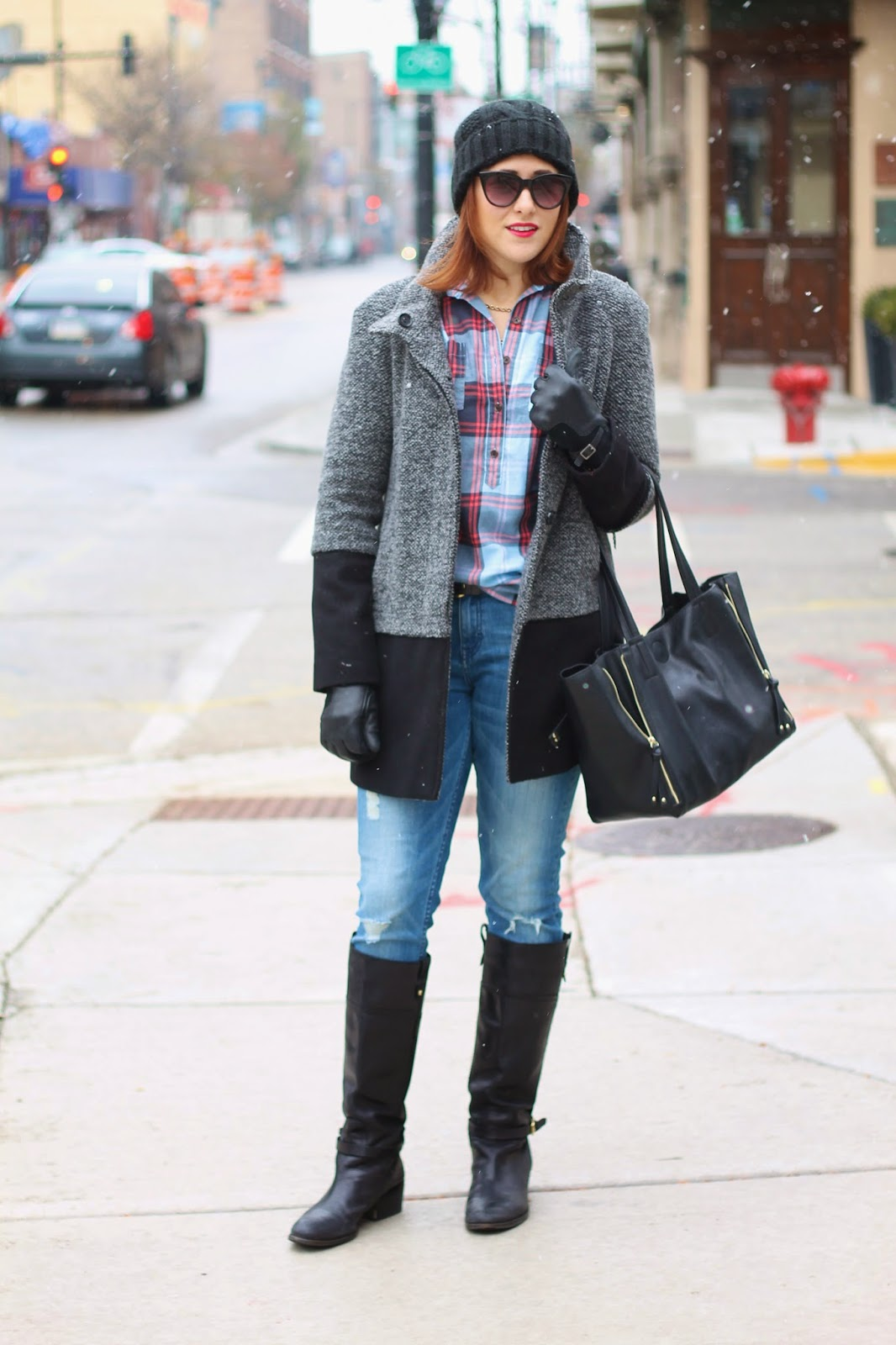 old, navy, flannel, tweed, coat