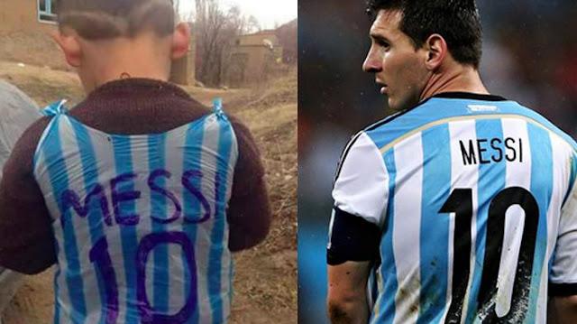 Akhirnya, Messi Akan Temui Bocah Berkostum Kresek Atas Namanya