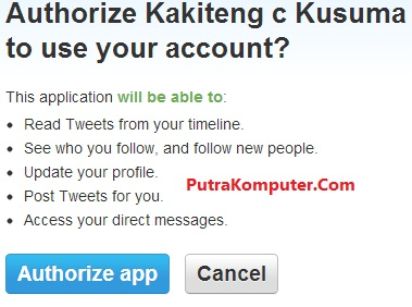 Authorize Twitter
