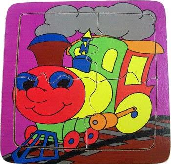 Puzzle Anak Sederhana Train