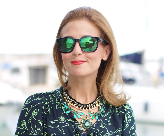 Surfdome, statement necklace, Oakley mirror sunglasses, Fashion and Cookies, fashion blogger
