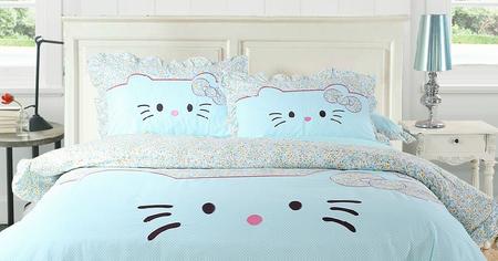 desain kamar hello kitty berwarna biru - desain rumah