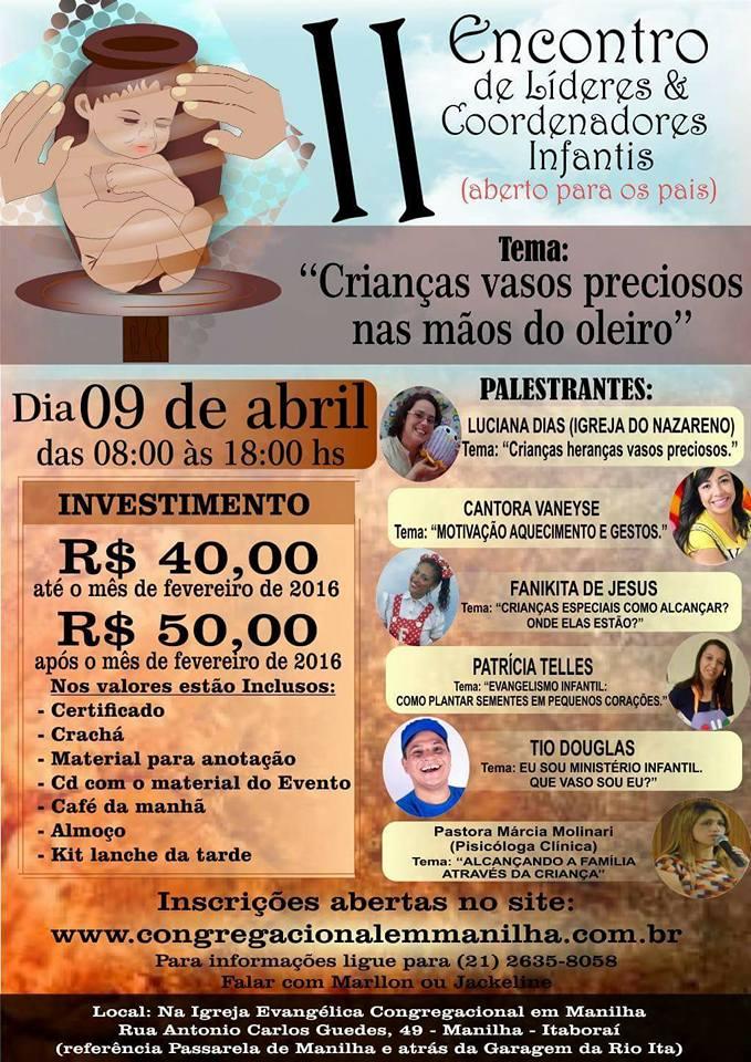II ENCONTRO DE LÍDERES E COORDENADORES INFANTIS