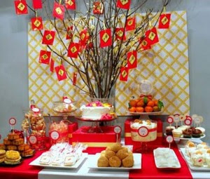 Interior Chinese new year decoration