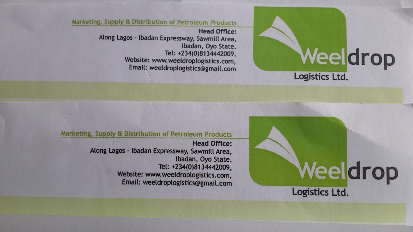 Weeldrop Logistics Nigeria Limited