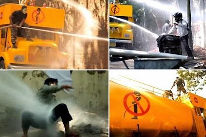 Di Mumbai Kencing Sembarangan Disemprot Water Canon