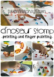 http://parentingchaos.com/dinosaur-stomp-painting/