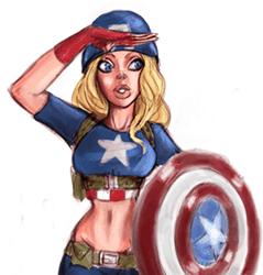 dibujo de la capitana america