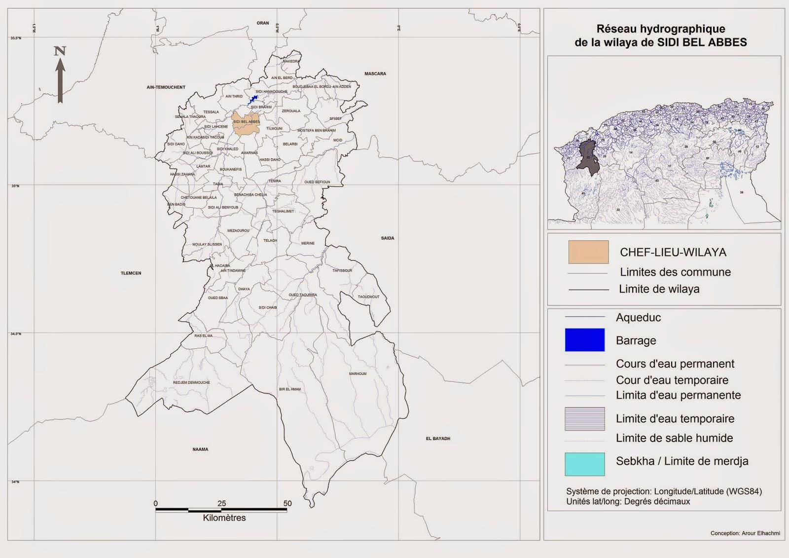 Découpage administratif de l'Algérie & Monographie: Carte du
