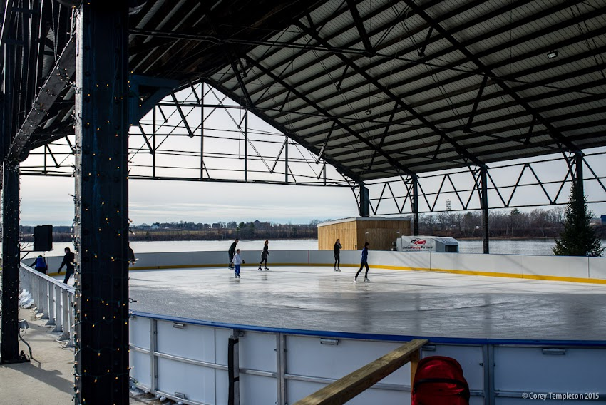 Portland, Maine USA December 2015 photo by Corey Templeton of the new Ice Rink at Thompson's Point.