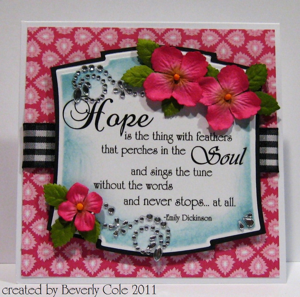 Beestamper hycct words of encouragement hycct words of encouragement kristyandbryce Image collections