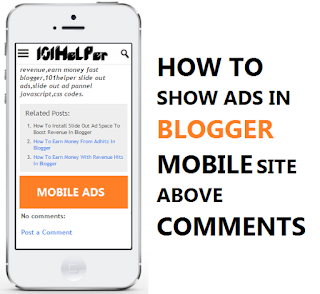 how to show ads in blogger mobile above comments 101helper