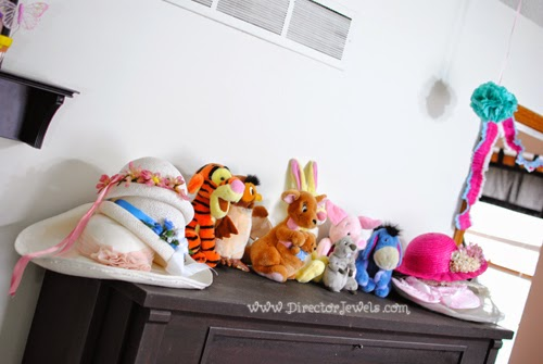 Vintage Hats. Disney Winnie the Pooh Birthday Tea Party Decorations and Theme for Toddlers. 2nd Birthday Party Ideas. Come to tea with Piglet, Eeyore, Rabbit, Owl, Christopher Robin.