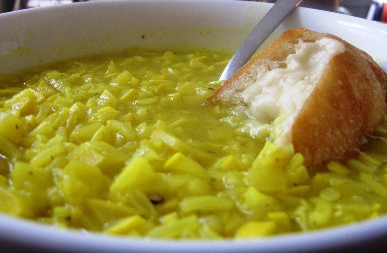 SoupruaryLemony Yellow Squash and Rice Soup