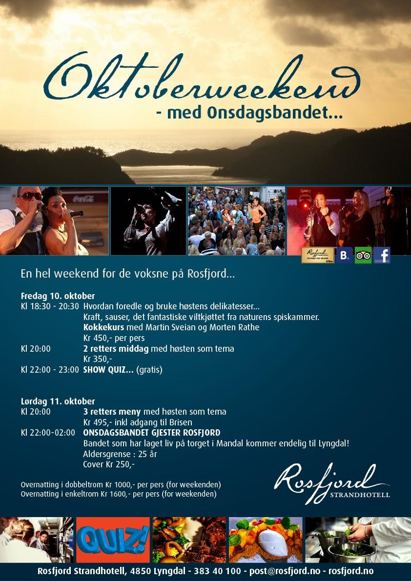 Oktoberweekend på Rosfjord Strandhotell