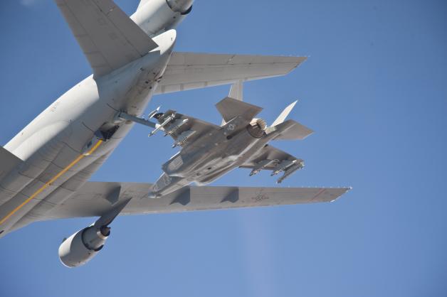 F-35ライトニングIIの空中給油、イメージ
