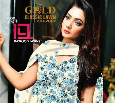 Dawood Gold Classic Lawn 2014 Vol-2