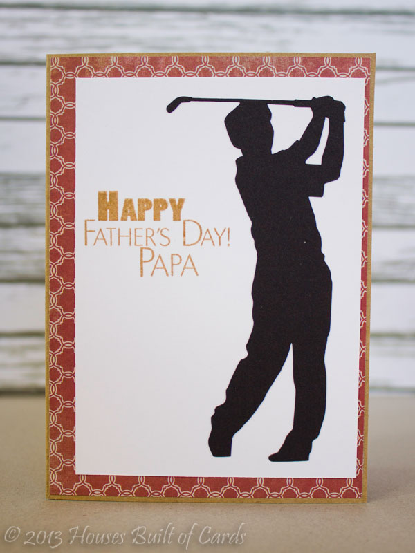Houses Built of Cards: Father\'s Day Golf Theme Cards