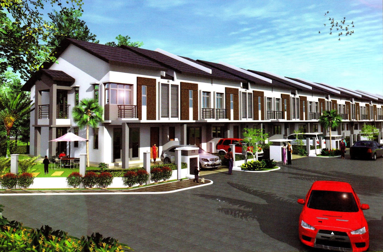 Property malaysia double storey terrace link house for What is terrace house