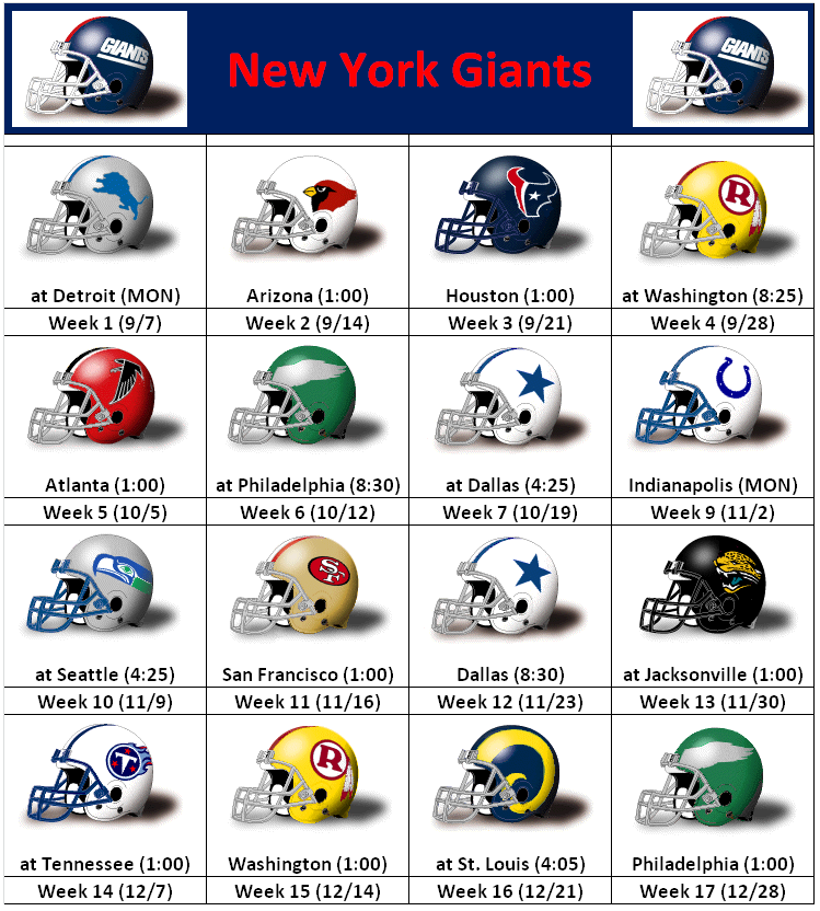 new york giants lineup gallery
