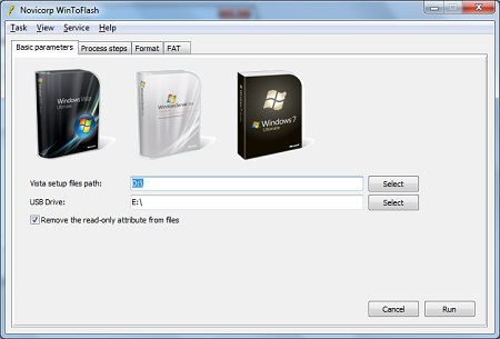 WinToFlash create bootable USB pendrive
