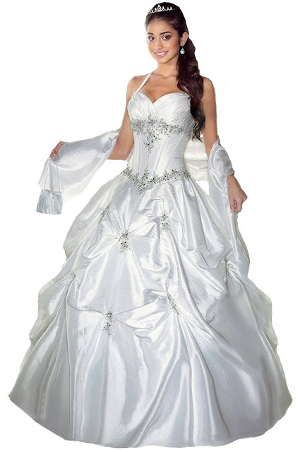 Robe de Mariée Faironly F6 Femmes Licou Robes de mariée Robes de bal Comprend un Châle Sac