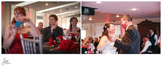 Sparkly Red Black Wedding at The Bedford Columns