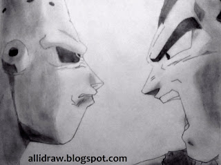 Buu and Vegeta sketch by Maninder Pal Singh