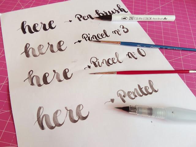 caligrafía con pincel