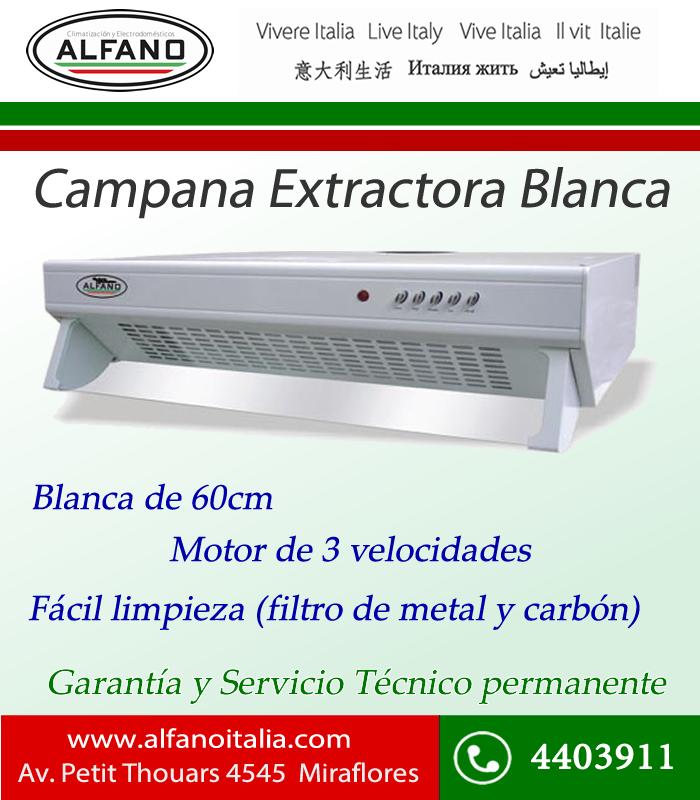 Termas estufas en lima alfano campana extractora blanca - Campana extractora blanca ...