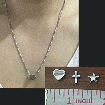 heart pendant|cross pendant|star pendant