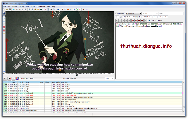 Download Aegisub 3.0.2 Full  Phần mềm làm sub Karaoke đẹp cho video