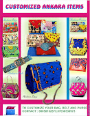CUTOMIZED ANKARA BAGS & BELT