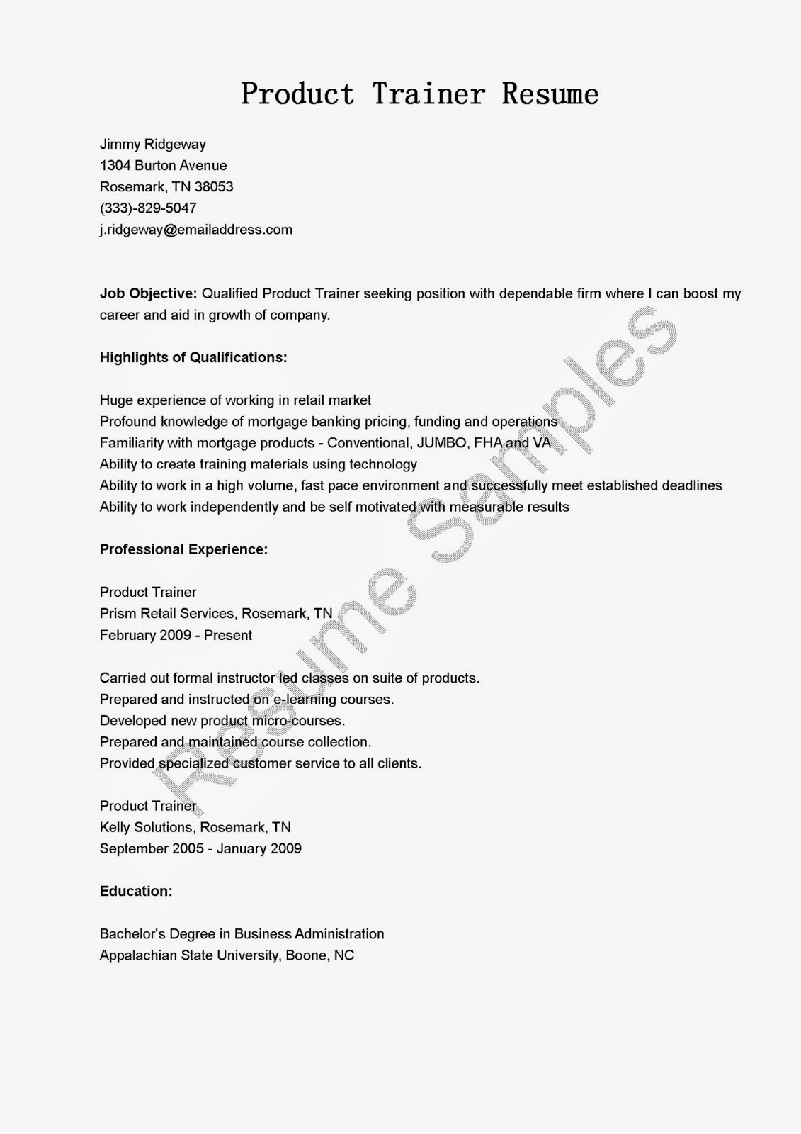 product trainer resume s trainer lewesmr