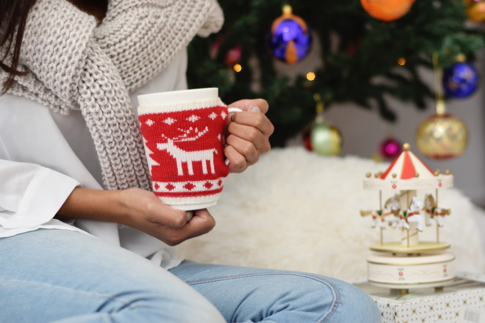 christmas decoration gift wrapping mug