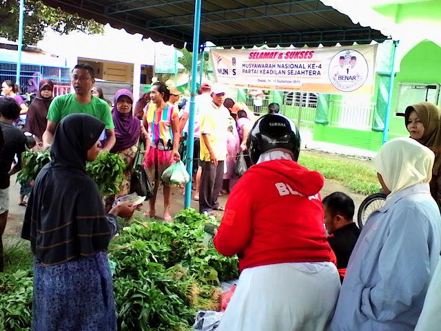Semarakkan Munas, PKS Kota Medan Tebar 4000 Paket Sembako Murah